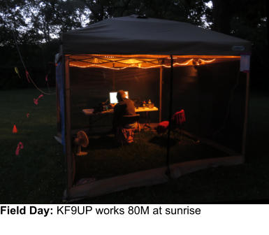 Field Day: KF9UP works 80M at sunrise